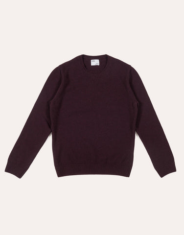Colorful Standard Classic Merino Wool Crew - Oxblood Red