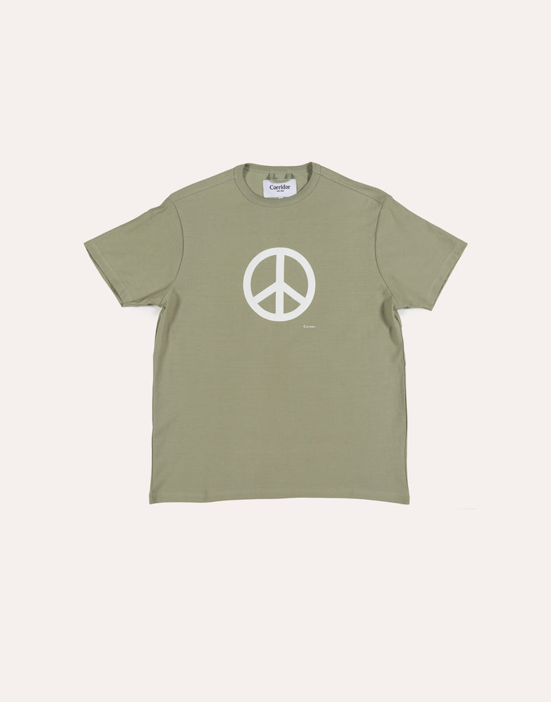 Corridor Peace Sign SS T-Shirt - Olive
