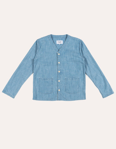 Corridor Washed Baseball Cardigan - Chambray