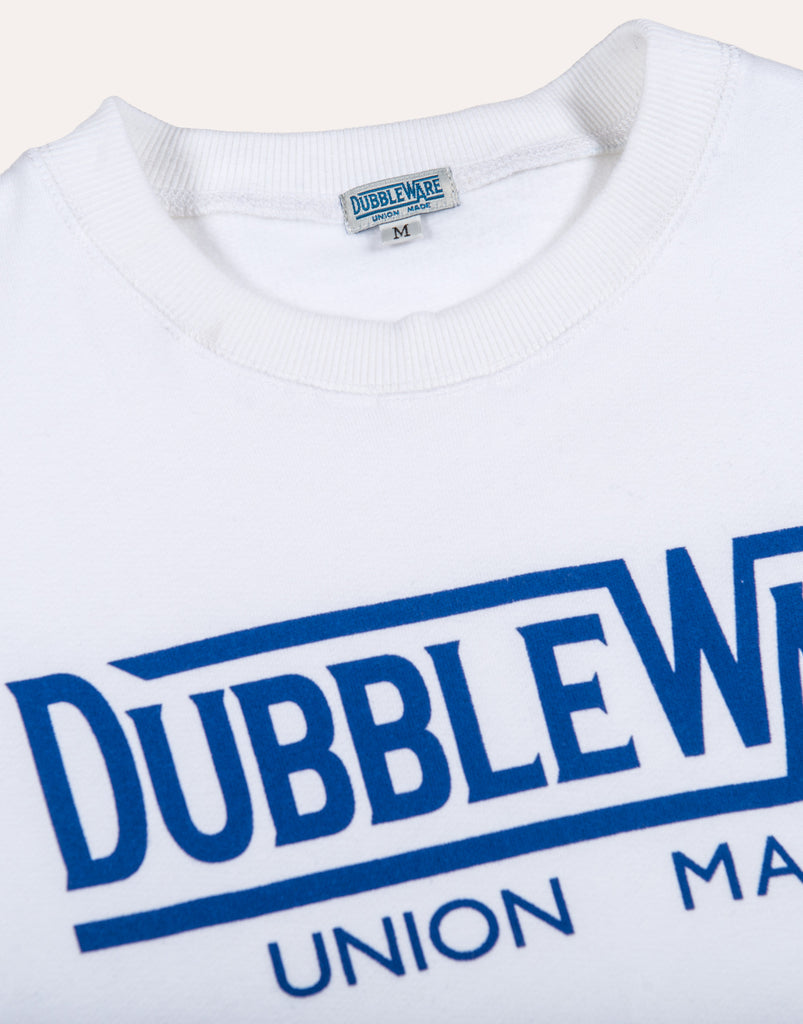 DUBBLEWARE Union Made Logo Sweat - White