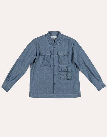 Eastlogue Utility Field Shirt - Blue Chambray