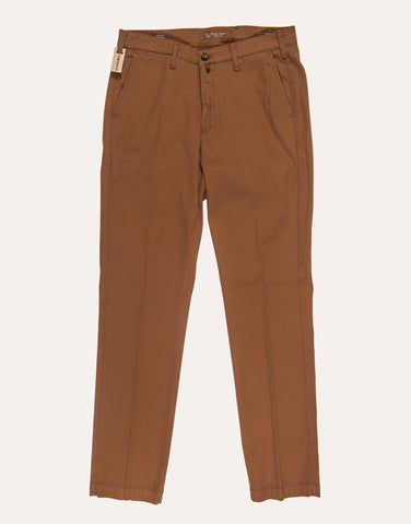 Four Ten Industry T901 Cotton Fine Cord Trouser - Brown