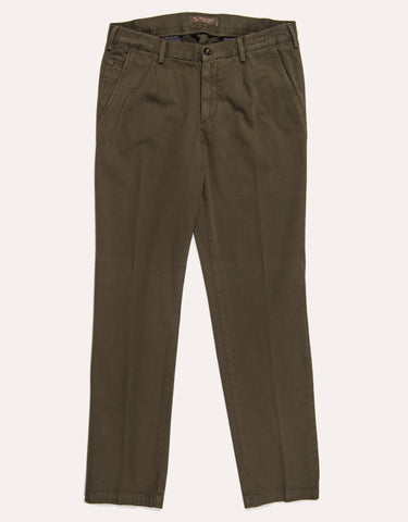 Four Ten Industry Cotton Trouser - Olive