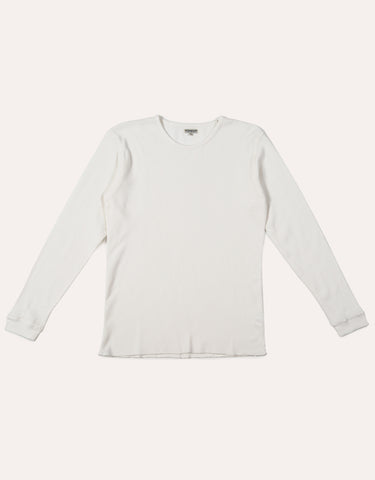 KNICKERBOCKER LS Camp Knit T-Shirt - Milk