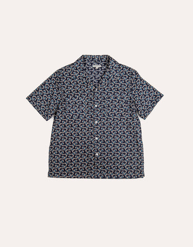 KNICKERBOCKER SS Comma Camp Shirt - Tripper Navy