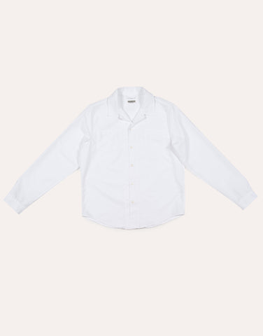 KNICKERBOCKER Comma Oxford Shirt - White