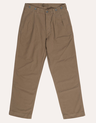 Nigel Cabourn P-60 Dyed Pleated Chino - British Tan