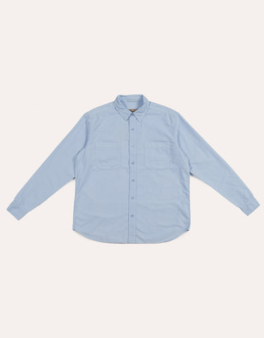 Nigel Cabourn Welder Pocket Oxford Shirt - Sky Blue