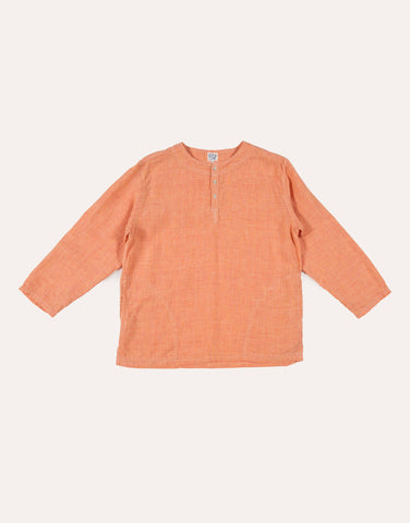 orSlow Long Sleeve Linen Tee - Orange