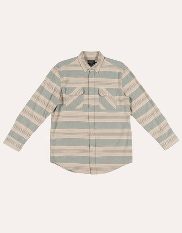Pendleton LS Beach Shack Shirt - Blue Green Tan St.