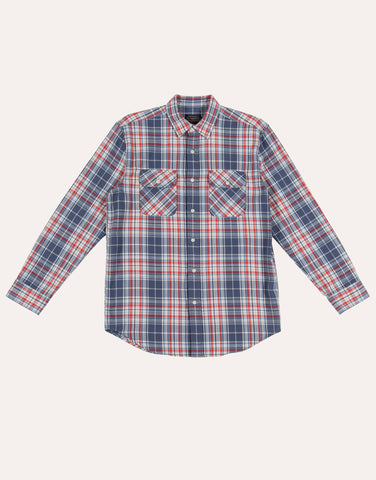 Pendleton LS Beach Shack Shirt - Blue Red Ivory Pld