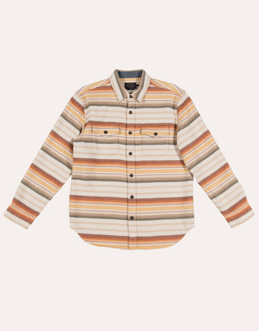 Pendleton Serape Beach Shirt - Tan Brown