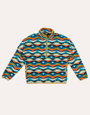 Penfield Melwood Geo Fleece - Teal Print