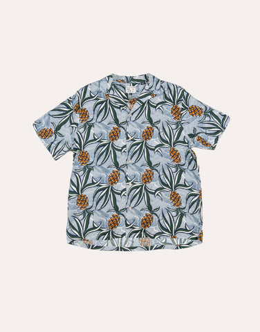 Reyn Spooner Whacky Pineapple Rayon Camp