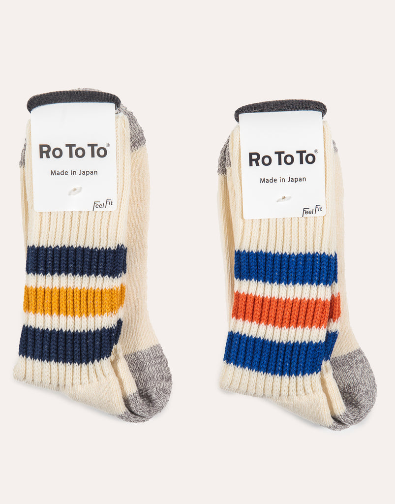 ROTOTO Coarse Ribbed Old School Sock