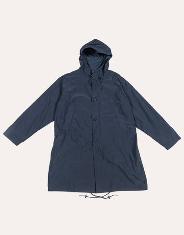 Still by Hand Hooded Coat - Navy