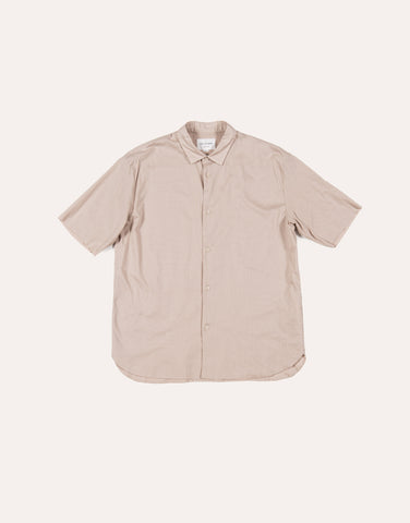 Still by Hand SS Layered Shirt - Beige
