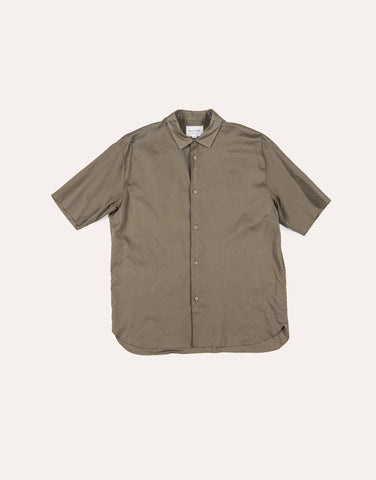 Still by Hand SS Layered Shirt - Olive