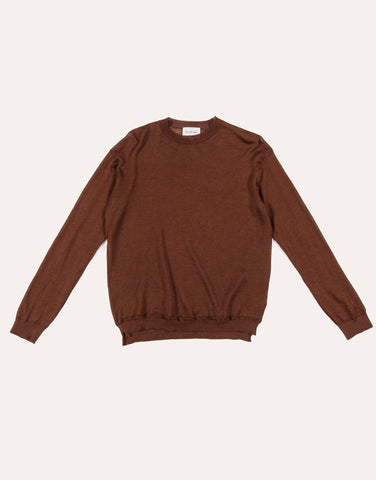 Still by Hand Ramie & Mohair Sweater - Brown