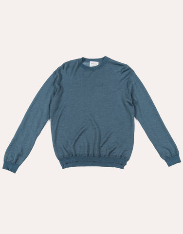 Still by Hand Ramie & Mohair Sweater - Blue