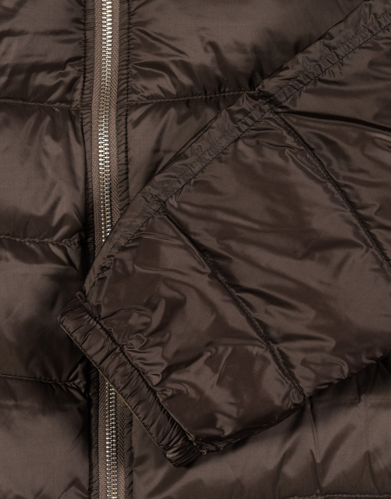 TEN C Down Liner Hooded with Pocket - Brown