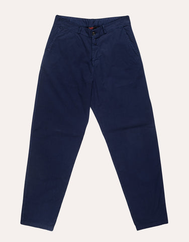 VETRA Wide Cotton Trouser - Navy