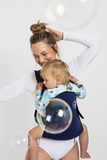 Frog Orange Explorer baby Carrier - Luxe Navy - front view