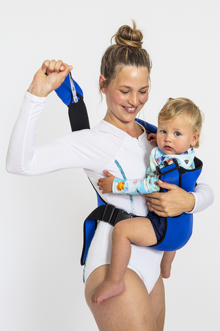 Frog Orange Explorer baby Carrier - Royal Blue - Easy to put on and take off