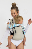 Frog Orange Explorer baby Carrier - Silver Mist - front view