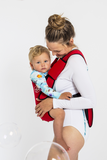 Frog Orange Explorer baby carrier - Bright Red - side view