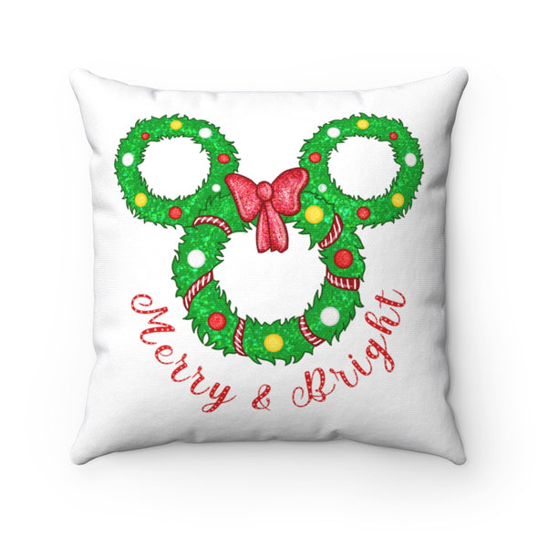 Merry Wreath Square Pillow