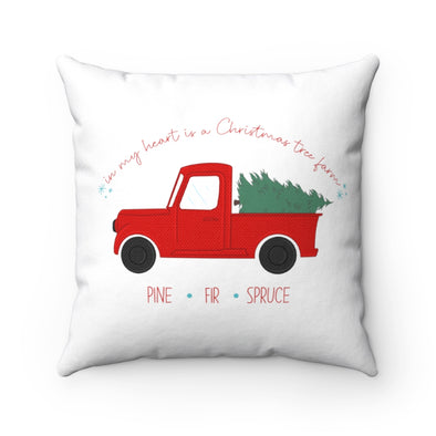 Christmas Tree Farm Square Pillow