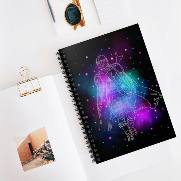 Galaxy Spiral Notebook - Ruled Line