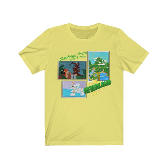 Greetings From Neverland Short Sleeve Tee