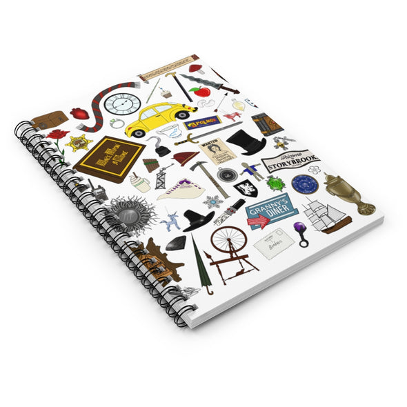 Once Upon A Time Spiral Notebook - Ruled Line