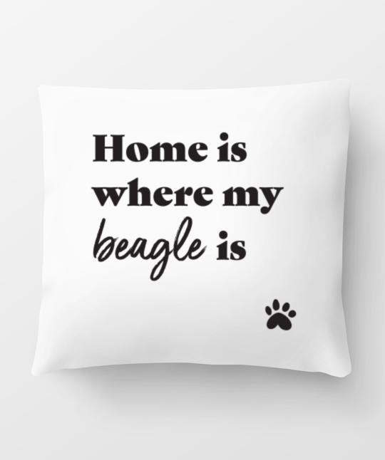 Beagle 'Home Is Where' Pillow