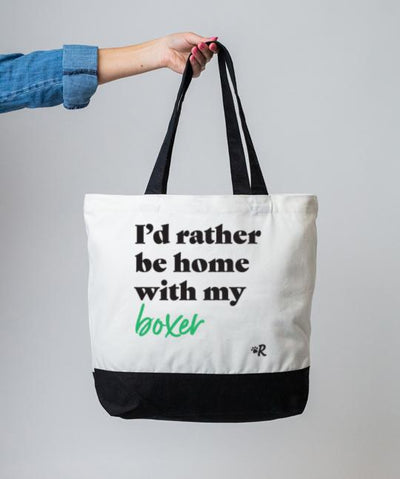 Boxer 'I'd Rather Be' Tote Tote Rover Store