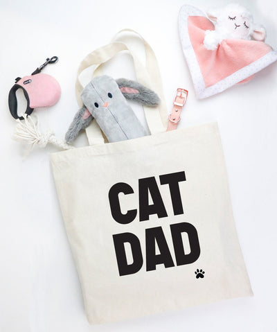 'Cat Dad' Tote Tote Printed Mint