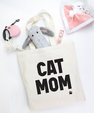 'Cat Mom' Tote Tote Printed Mint