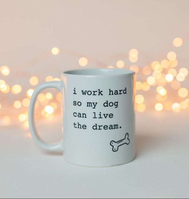 Dog 'I Work Hard' Mug Mug Rover Store