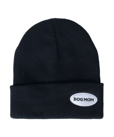 'Dog Mom' Patch Beanie Hat Rover