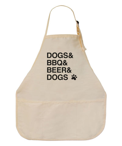 'Dogs & BBQ' Apron Apron Printed Mint