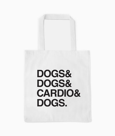 'Dogs & Cardio' Tote Tote Printed Mint