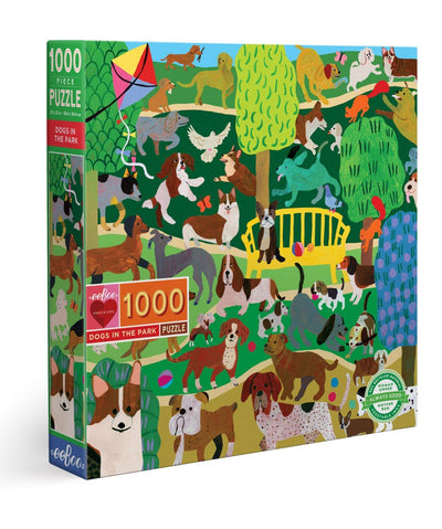 Dogs in the Park 1,000 Piece Jigsaw Puzzle Puzzle Rover