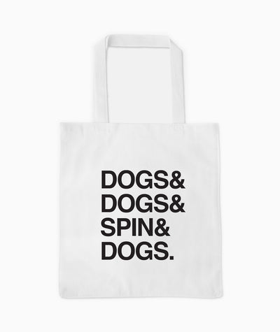 'Dogs & Spin' Tote Tote Printed Mint