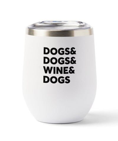 'Dogs & Wine' Insulated Tumbler Tumbler Rover