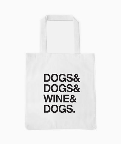 'Dogs & Wine' Tote Tote Printed Mint