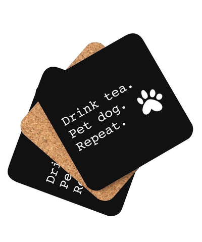 'Drink Tea' Coaster - Set of 4 Coasters Printed Mint