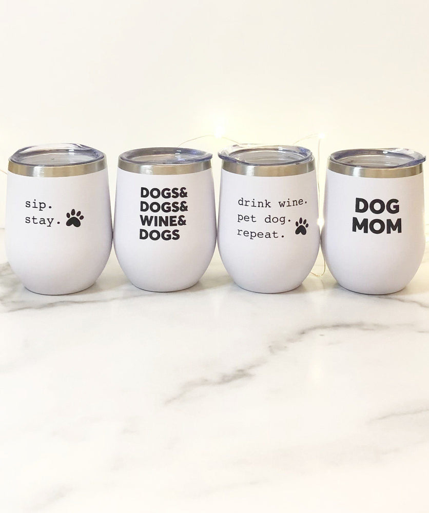 Four Favorites Dog Mom Insulated Tumbler Set