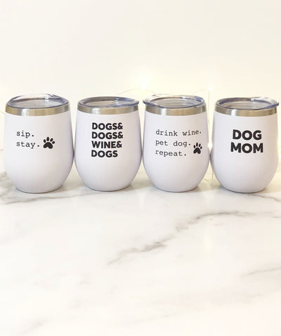 Four Favorites Dog Mom Insulated Tumbler Set Tumbler Rover